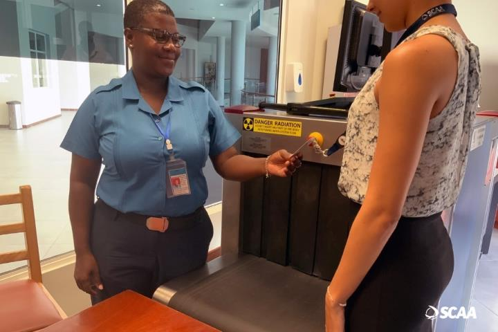 Pass Inspection at the Seychelles International Airport